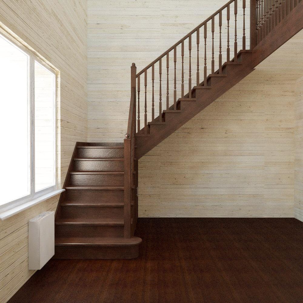 Как сделать г г образную лестницу своими руками